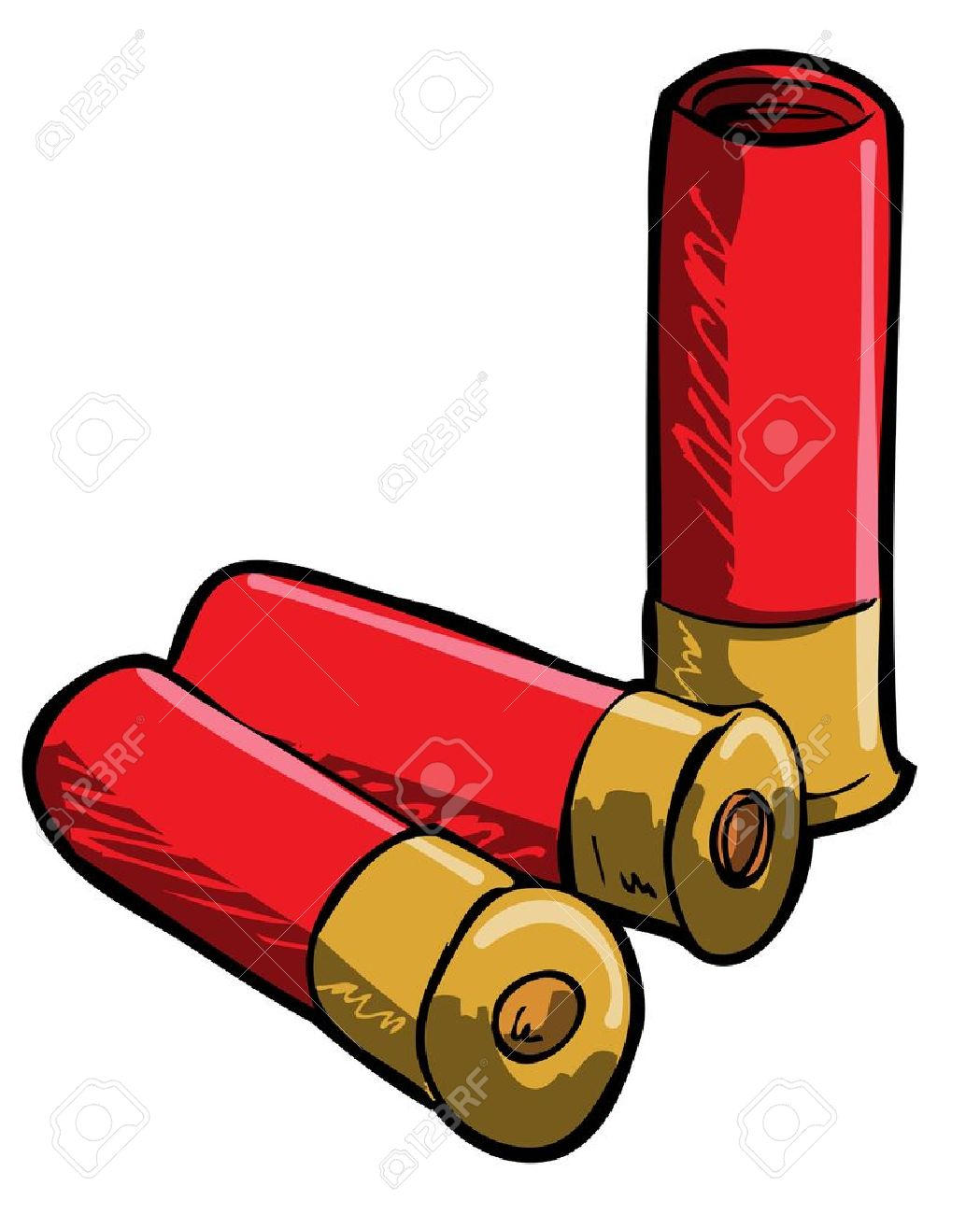 1049x1300 Hand Drawn Illustration Of Shotgun Shells. Isolated Royalty Free