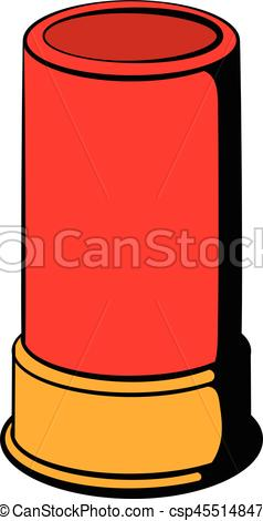 238x470 Shotgun Shell Icon, Icon Cartoon. Shotgun Shell Icon In Icon