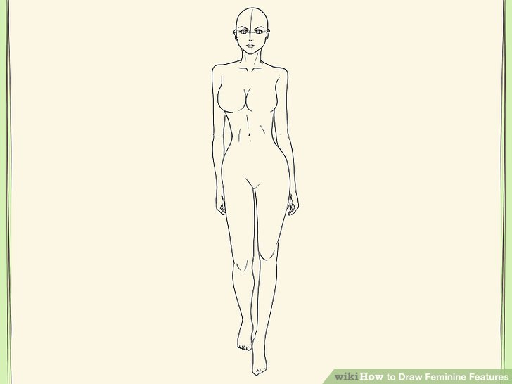 728x546 How To Draw Feminine Features 9 Steps (With Pictures)