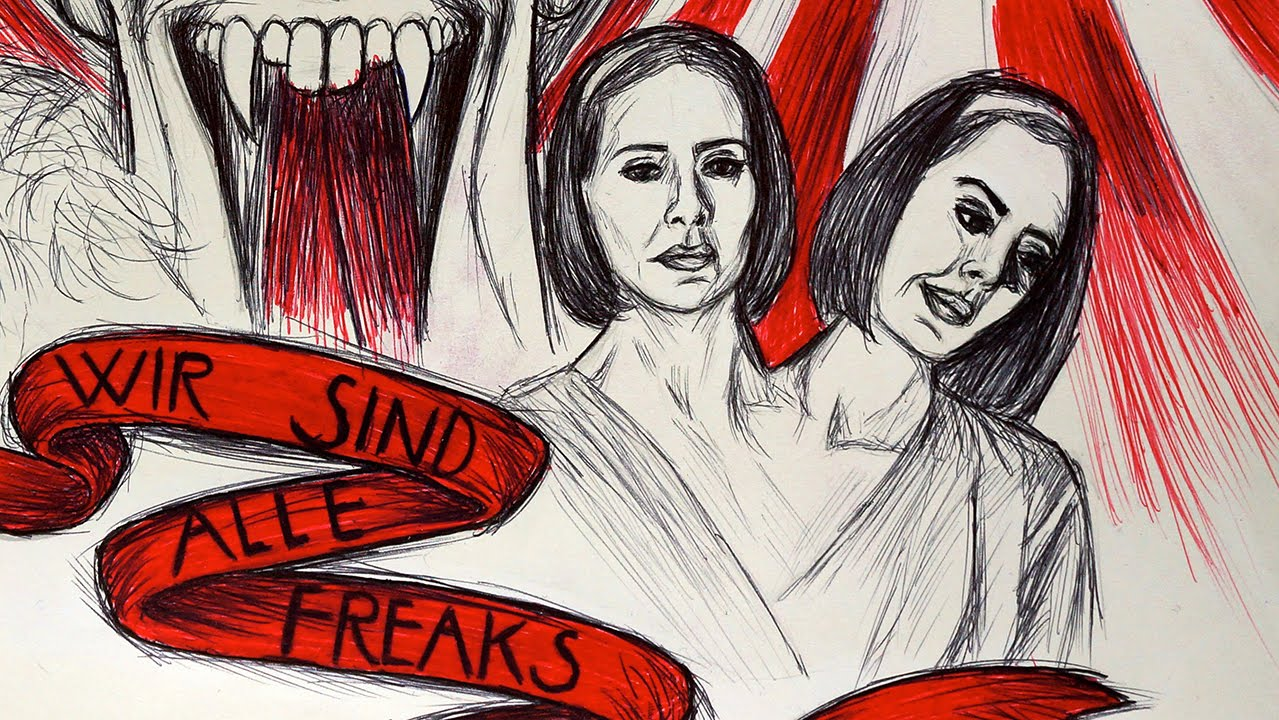 1279x720 Ahs Freak Show Ballpoint Pen Time Lapse Drawing
