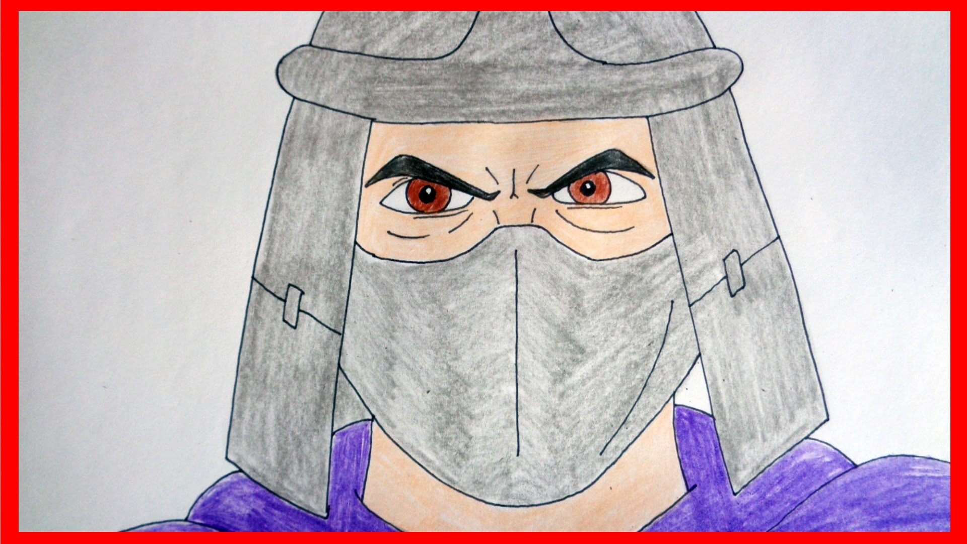 1920x1080 How To Draw Shredder From Ninja Turtles