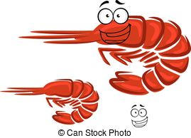 269x194 Shrimp Cartoon Character Isolated Vector Clip Art