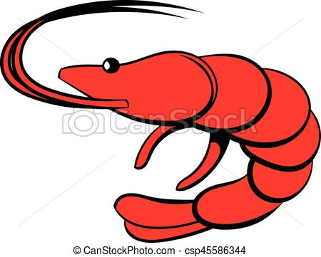 450x361 Shrimp Icon Cartoon. Shrimp Icon In Cartoon Style Isolated Eps