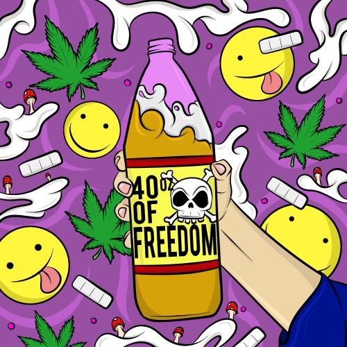 500x500 Drawing Art Trippy Dope Drugs Weed Marijuana Jesus Cartoon Pot 420