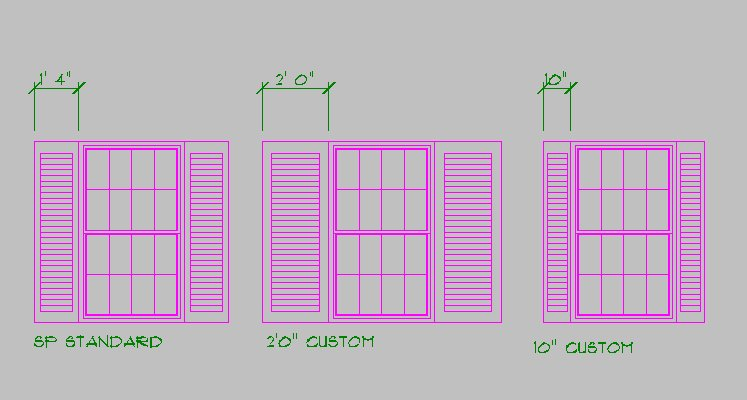 747x400 Creating Custom Shutter Widths Drawing Amp Sketch