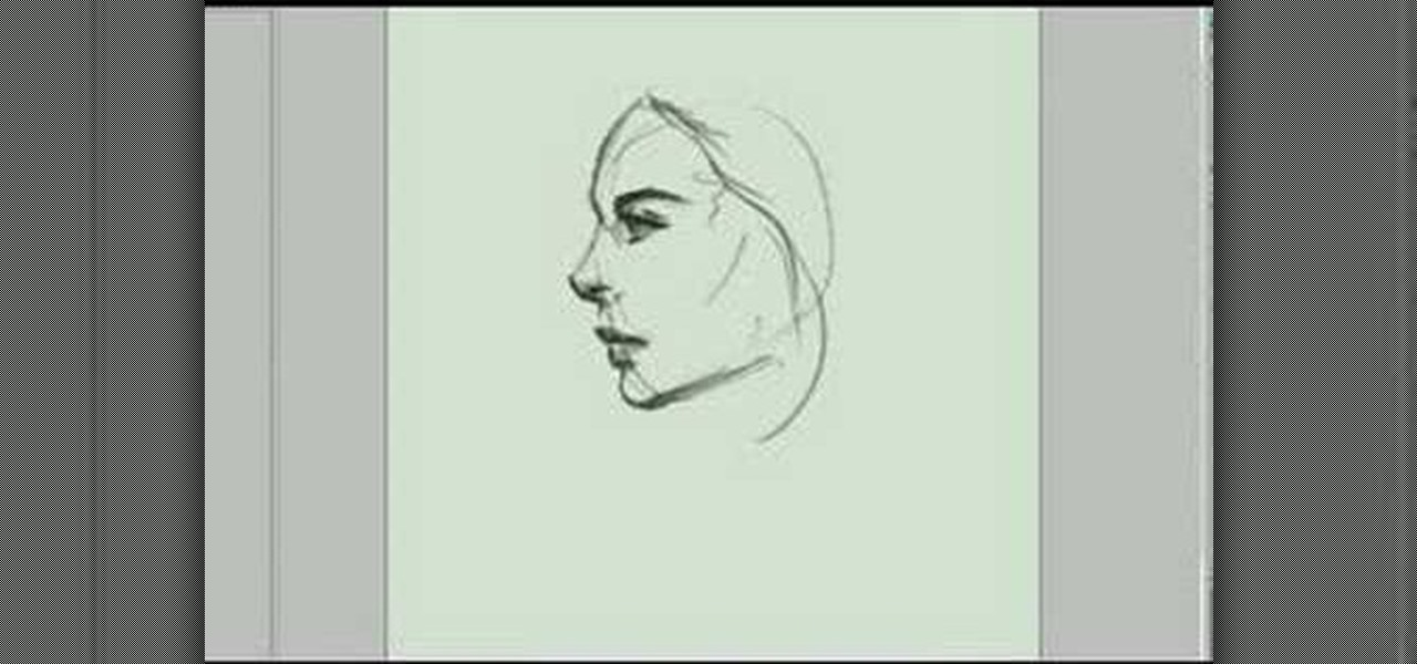 1280x600 How To Draw The Sideview Of A Woman's Face Drawing