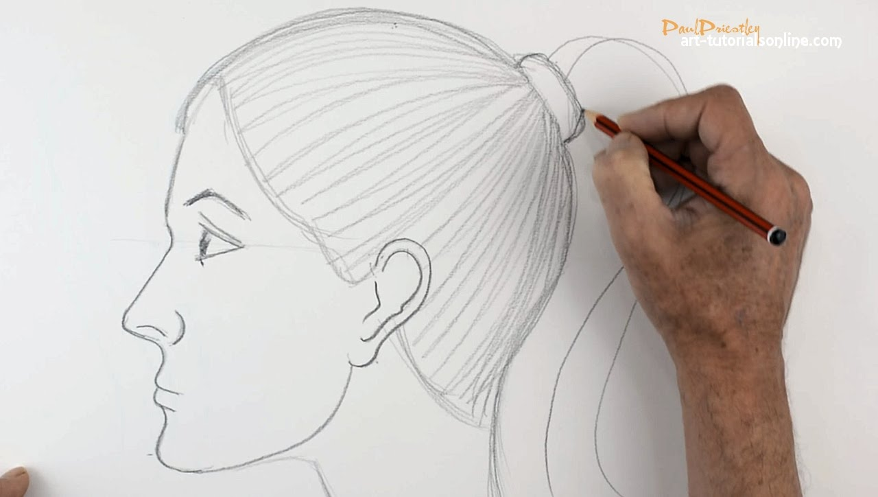 Continuous Line Drawing Face : Side drawing at getdrawings free for personal use