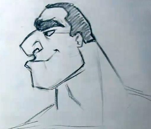 510x437 How To Draw A Cartoon Face From The Side