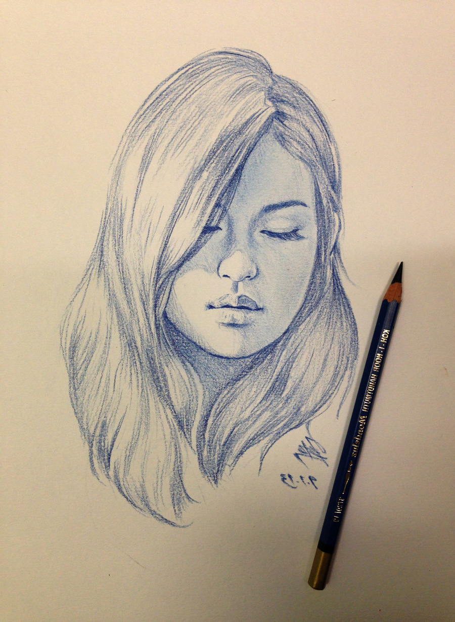 900x1229 Sketches Of Girl Face Realistic Girl Face Sketch Side View How