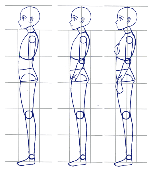 side pose drawing at getdrawings com free for personal use side