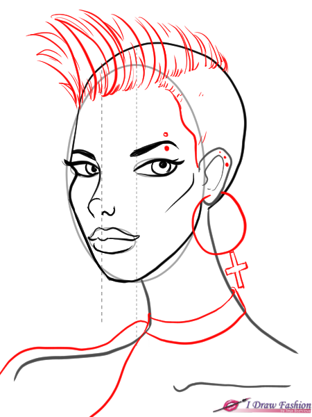 450x600 Draw A 34 View Face I Draw Fashion
