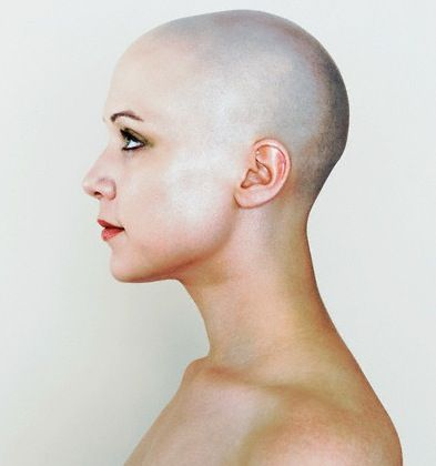 393x420 Bald Woman Face Side View Interesting Facesexpressions