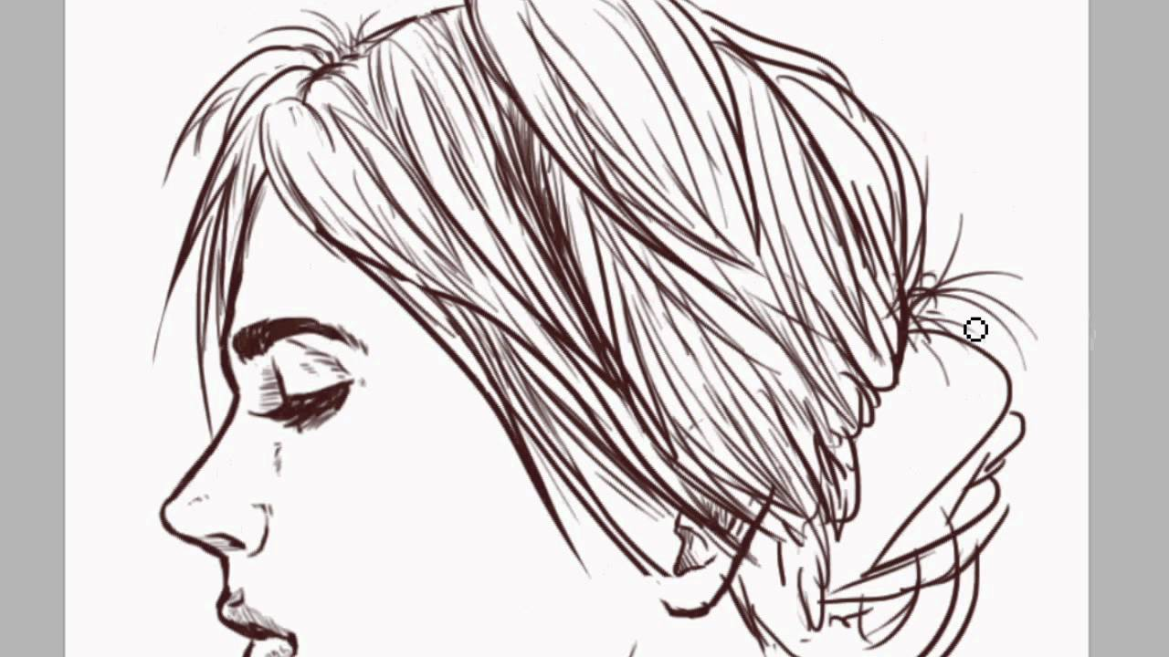 1280x720 How To Draw A Pretty Sideview Lady With Big Eyes Cartoon