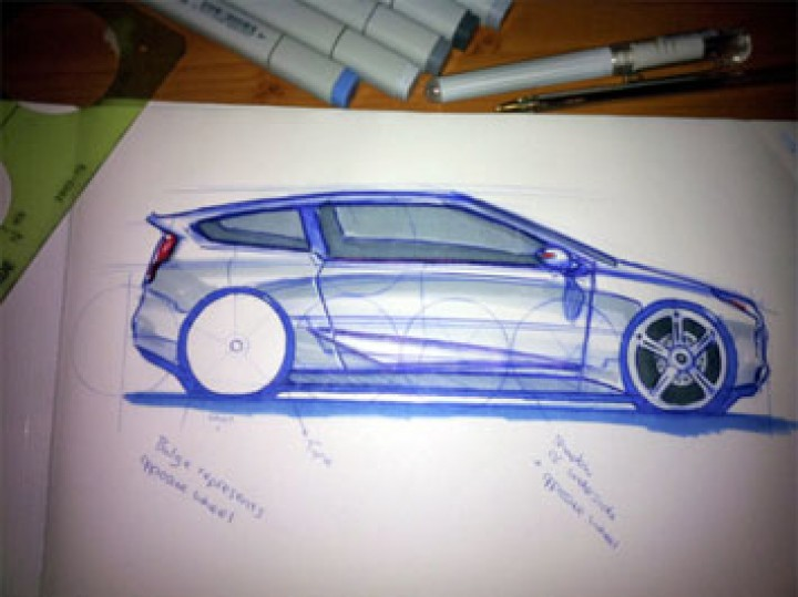720x539 Car Side View Sketching Tutorial