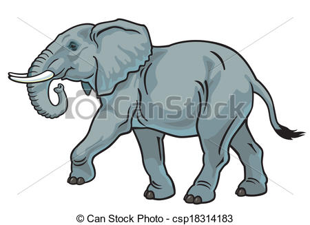450x327 African Elephant Elephant, Side View Image Isolated On Vector