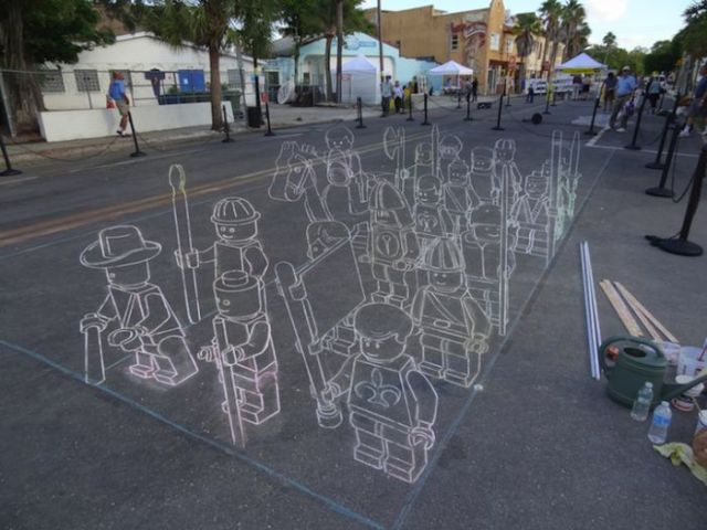 640x480 Awesome 3d Sidewalk Chalk Drawing (7 Pics)