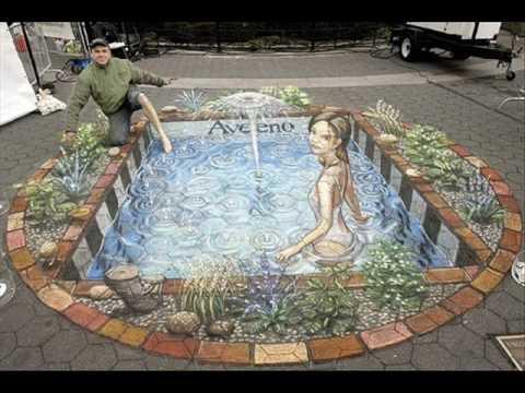 480x360 Beautiful Chalk Drawings On Sidewalks