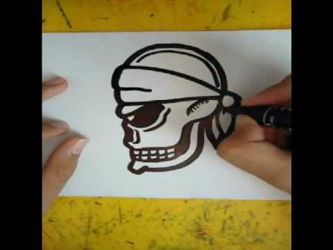 480x360 How To Draw A Skull (From The Side)