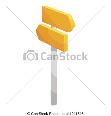 450x470 Road Signpost Icon, Cartoon Style. Road Signpost Icon . Eps