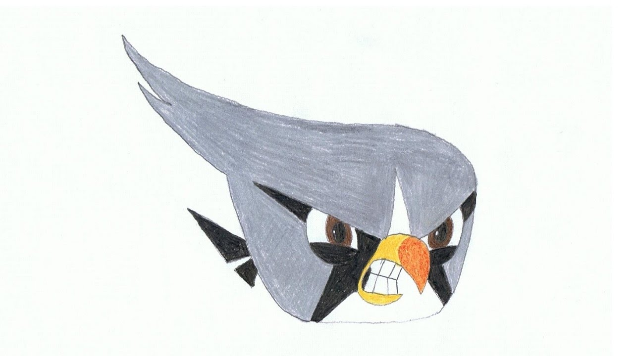 1280x720 How To Draw Silver (Angry Birds 2)