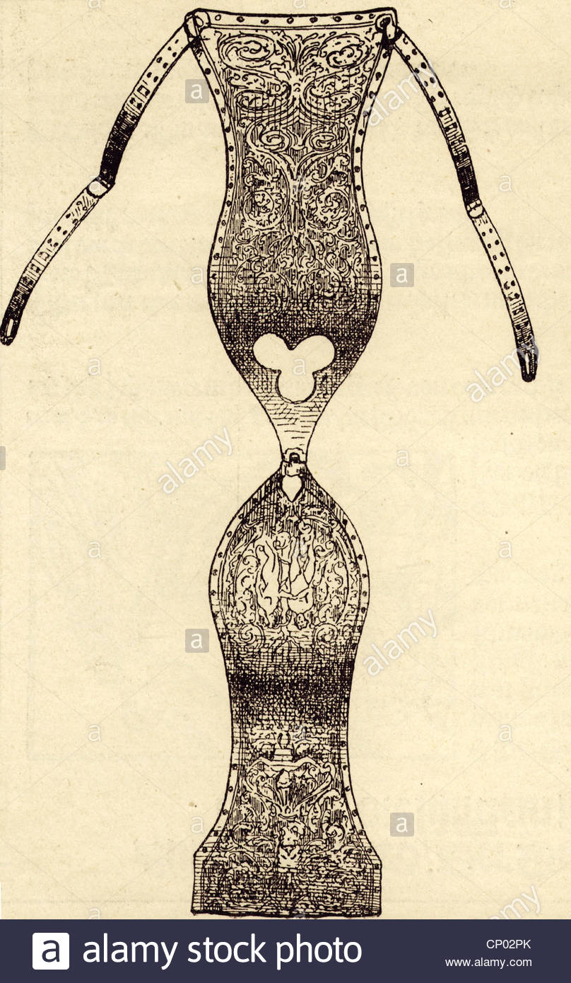 808x1390 People, Eroticism, Chastity Belt, Silver, Drawing After
