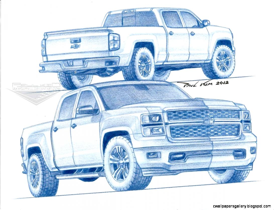 1092x840 Chevy Silverado Truck Drawings Wallpapers Gallery