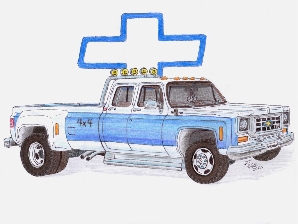 1024x770 Chevy Truck Drawing Car Chevrolet Silverado 2006 The Photo