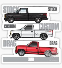 210x230 Silverado Drawing Stickers Redbubble