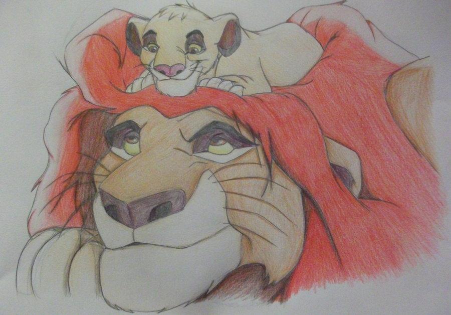 900x628 Lion King Simba And Mufasa Drawings Lion King Mufasa And Simba
