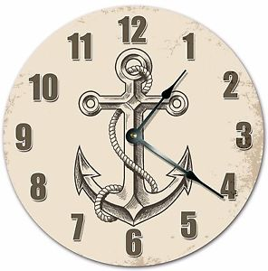 296x300 10.5 Simple Anchor Drawing Clock