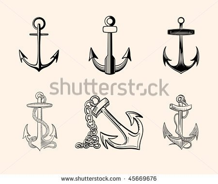 450x381 Simple Anchor Tattoos Collection