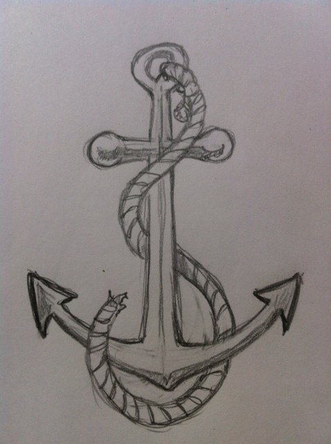 478x640 How To Draw An Anchor Feltmagnet