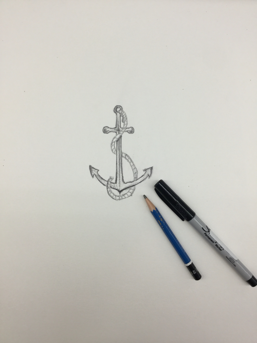 852x1136 Simple Anchor Drawing