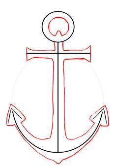 236x337 Anchor Drawing Simple