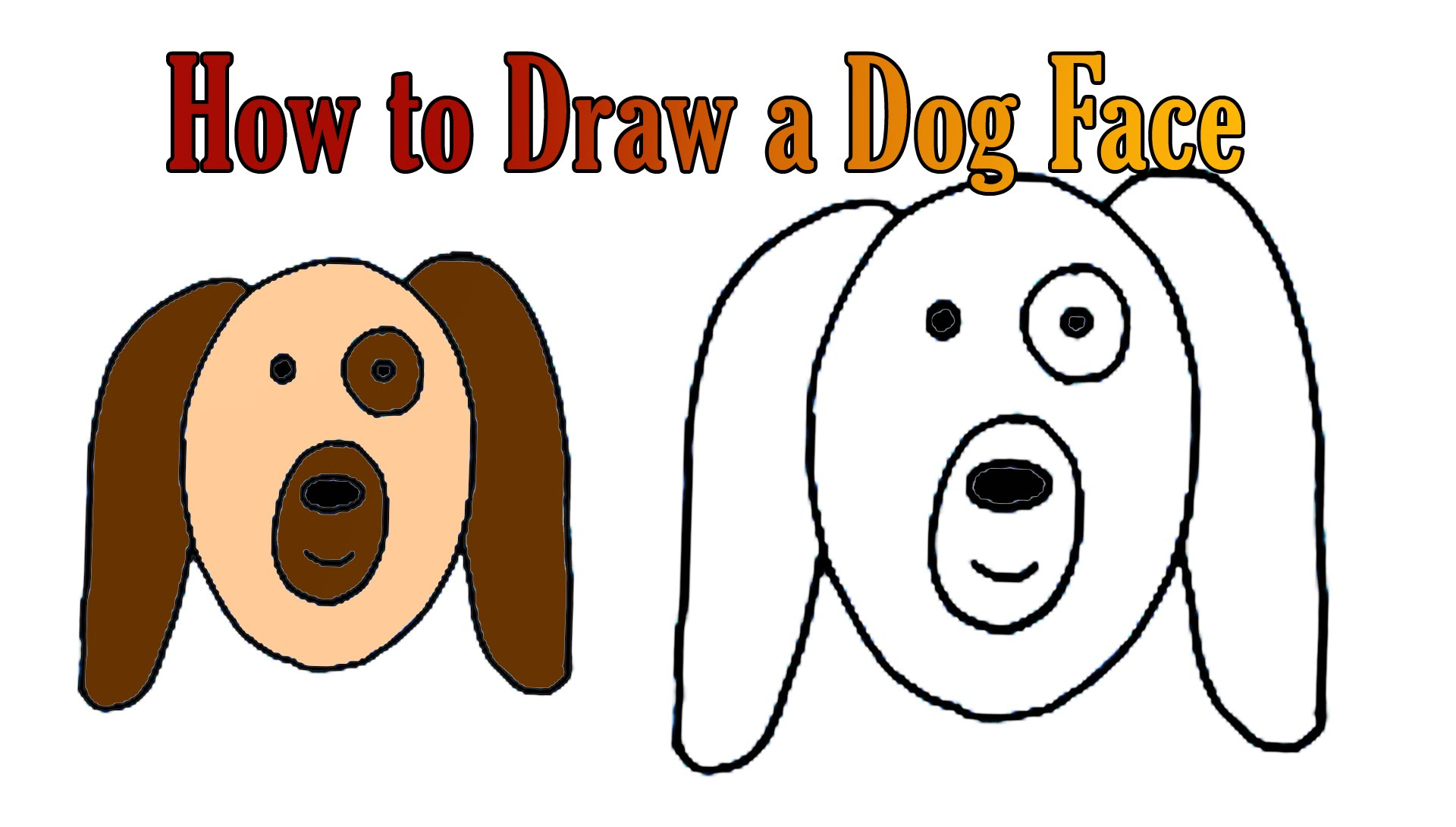 1920x1090 Really Easy To Draw Animals How To Draw A Dog Face