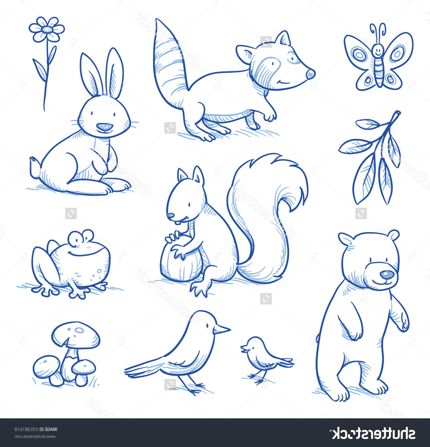 1500x1560 Forest Animals Drawing And Simple