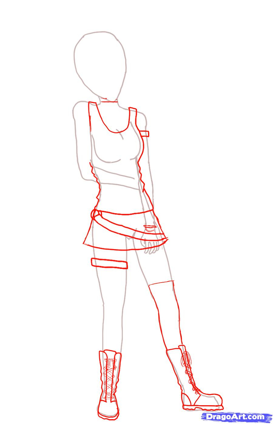 900x1400 Anime Girl Drawing Step By Step Draw A Simple Anime Girl, Stepstep