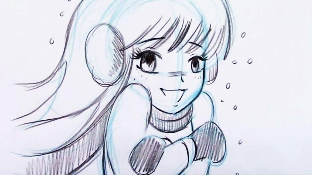 1280x720 Cute Anime Girl Drawings Draw Anime