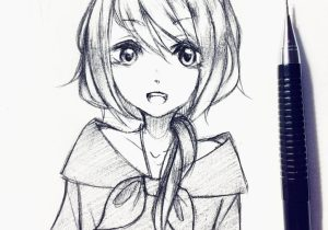 300x210 Simple Anime Girl Drawing How To Draw Simple Anime Girl Sketch