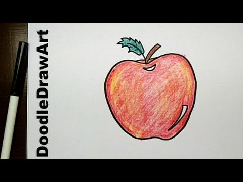 480x360 Drawing How To Draw Cartoon Apple