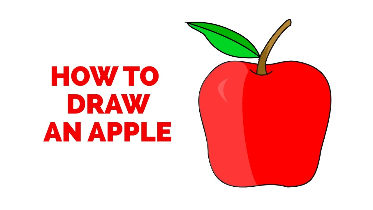 1280x720 How To Draw An Apple