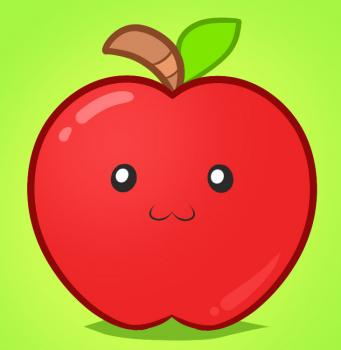 341x350 How To Draw How To Draw An Apple For Kids