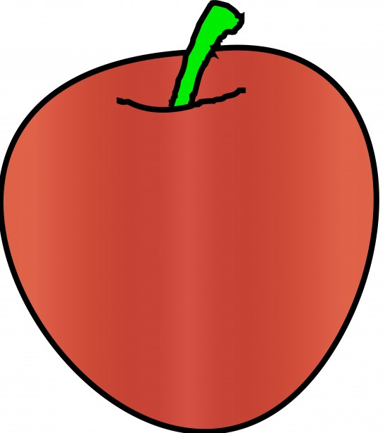 547x615 Red Apple Simple Drawing Free Stock Photo