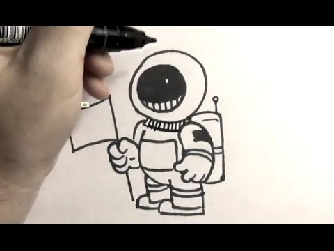 480x360 How To Draw An Astronaut