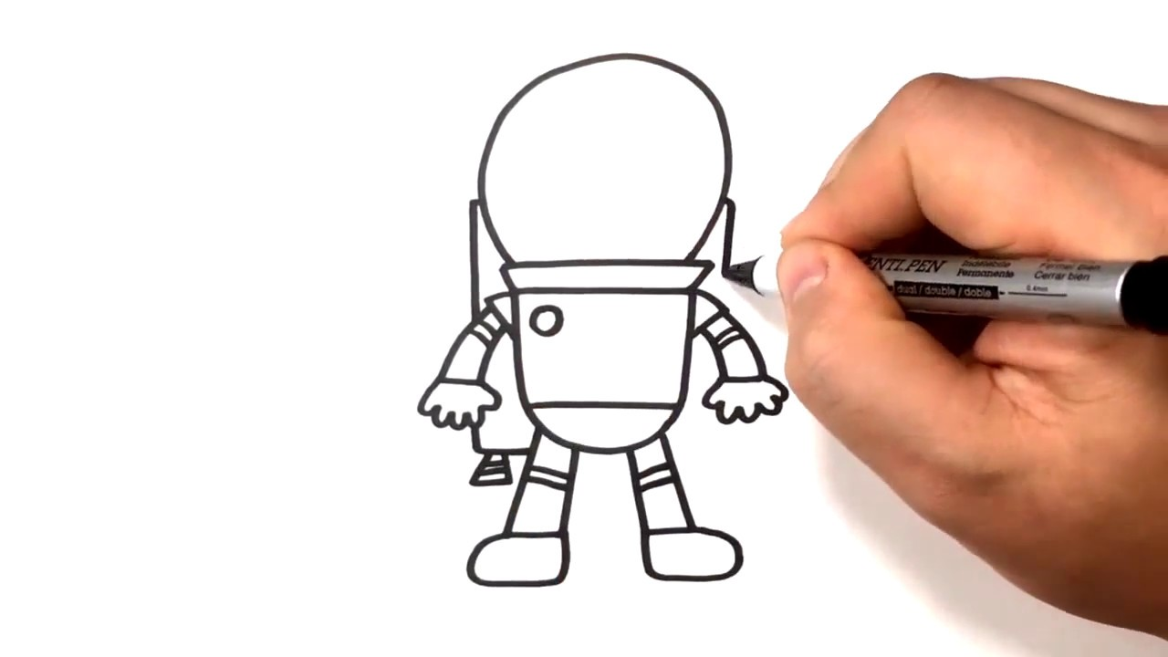 Simple Astronaut Drawing at GetDrawings | Free download