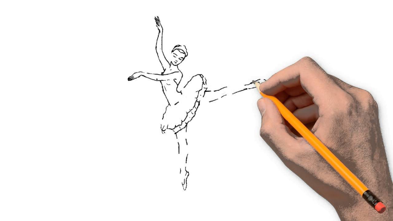1280x720 Barbie Ballerina Pencil To Draw Step By Step