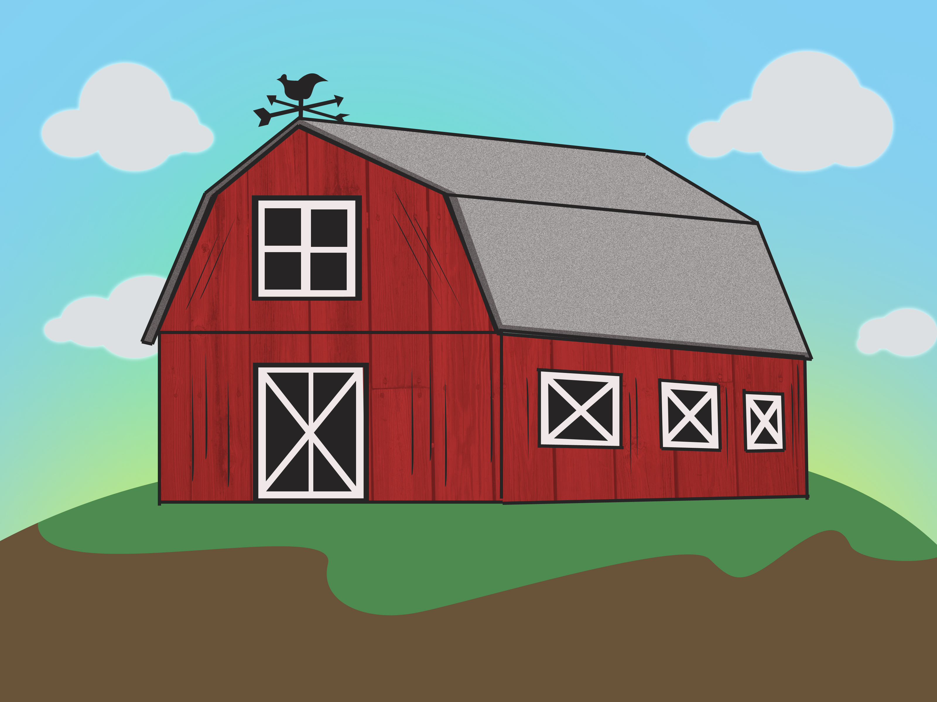 Simple Barn Drawing at GetDrawings.com | Free for personal use ... for Simple Farmhouse Drawing  183qdu