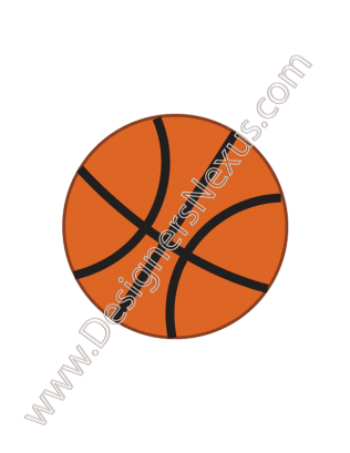 316x409 Free Vector Graphic V1 Simple Basketball