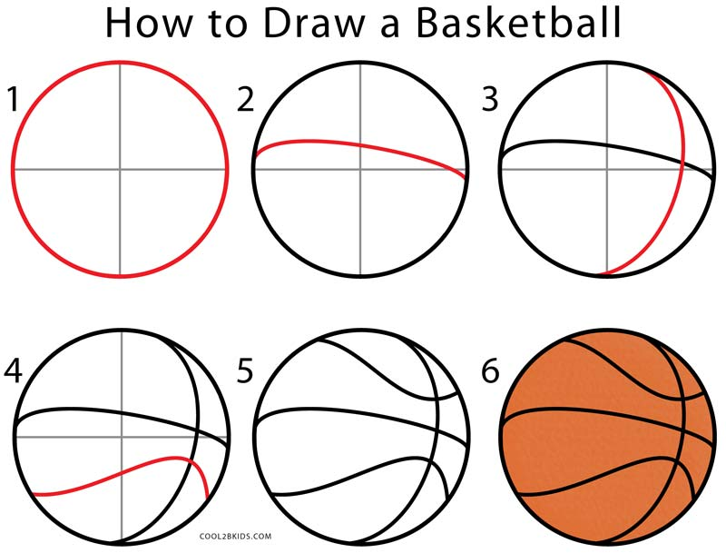 800x609 How To Draw A Basketball (Step By Step Pictures) Cool2bkids