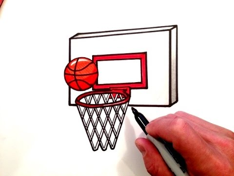 480x360 How To Draw A Basketball And Hoop